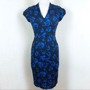 Betsey Johnson Blue Floral Dress Size 2